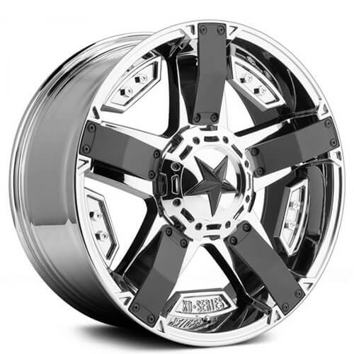 "17"" 18"" 20"" 22"" XD Wheels XD811 Rockstar II PVD Chrome Rims"