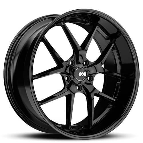 "20"" 22"" XO Wheels X140 Athens Gloss Black Rims *Staggered"