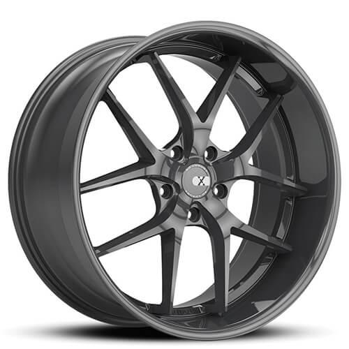 "20"" 22"" XO Wheels  X140 Athens Gloss Gun Metal Rims *Staggered"