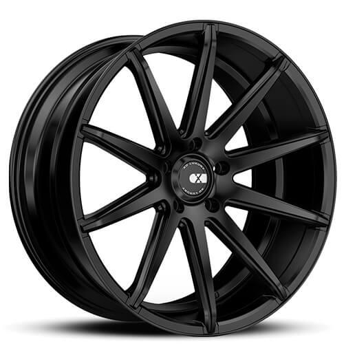 "20"" 22"" XO Wheels X252 Sydney Matte Black Rims *Staggered"