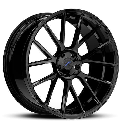 "20"" 22"" XO Wheels XF1 Black Rims *Staggered"