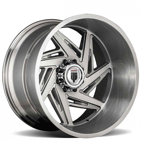 """24"""" American Truxx Wheels AT-1906 Spiral Brushed Off-Road Rims"""