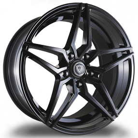 """18"""" Staggered Marquee Wheels 3259 Gloss Black Extreme Concave Rims"""