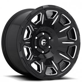 "20"" Fuel Wheels D688 Vengeance Gloss Black Milled Off-Road Rims"