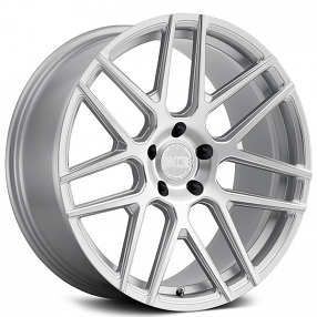 "22x9/10.5"" XO Moscow Silver with Ball Milled Spoke and Brushed Face Rotary Forged Wheels (5x112/114/120, +20)"