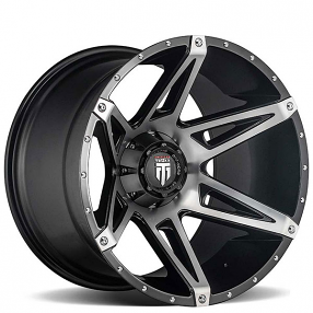 """20"""" American Truxx Wheels AT-1902 Kutz Black Machined Face Off-Road Rims"""