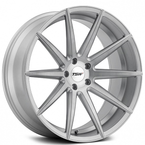 "20"" Staggered TSW Wheels Clypse Titanium with Matte Brushed Face Rims"