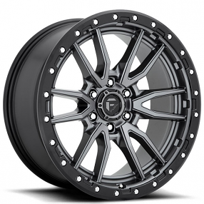 "20"" Fuel Wheels D680 Rebel Anthracite Center with Black Lip Off-Road Rims"