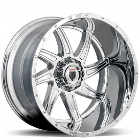 "20"" American Truxx Wheels AT-162 Vortex Chrome Off-Road Rims"