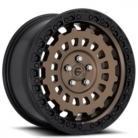 "20"" Fuel Wheels D634 Zephyr Brozne with Black Lip Off-Road Rims"