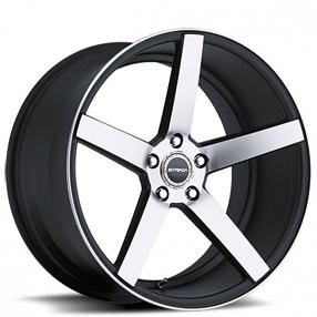 "17"" Strada Wheels Perfetto Gloss Black Machined Rims"