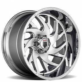 """24"""" American Truxx Wheels AT-1907 Xclusive Chrome Off-Road Rims"""