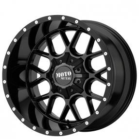 "22"" Moto Metal Wheels MO986 Siege Gloss Black Off-Road Rims"