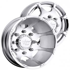 "17"" Vision Wheels 715 Crazy Eightz Dually Chrome Off-Road Rims"