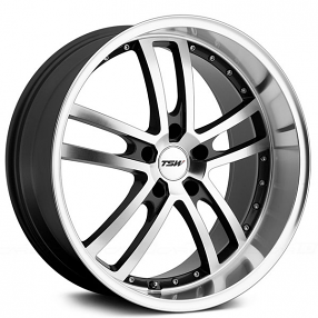 "18"" TSW Wheels Cadwell Gunmetal with Mirror Cut Face and Lip Rims"