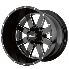 "17"" Moto Metal Wheels MO962 Gloss Black with Milled Accents Off-Road Rims"