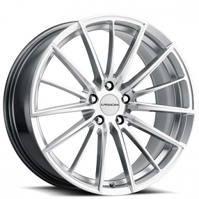 """17"""" Vision Wheels 473 Axis Hyper Silver with Machined Face Rims"""