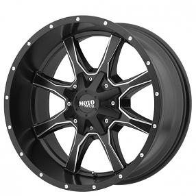 "20"" Moto Metal Wheels MO970 Satin Black Milled Off-Road Rims"