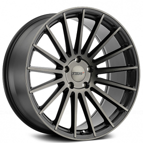 "20"" Staggered TSW Wheels Luco Matte Black with Machined Face and Dark Tint Rims"