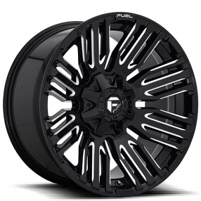 "20"" Fuel Wheels D649 Schism Gloss Black Milled Off-Road Rims"
