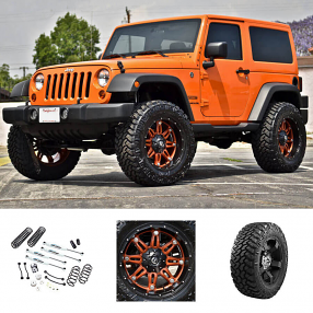 "2013 Jeep Wrangler Sport 20x9"" Wheels+Tires+Suspension Package Deal"