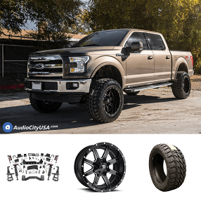 "2017 Ford F-150 20x12"" Wheels+Tires+Suspension Package Deal"