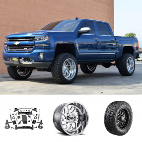 "2018 Chevy Silverado 1500 Z71 22x12"" Wheels+Tires+Suspension Package Deal"