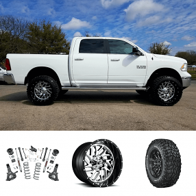 "2018 Dodge RAM 1500 22x12"" Wheels+Tires+Suspension Package Deal"