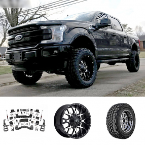 "2018 Ford F-150 20x10"" Wheels+Tires+Suspension Package Deal"