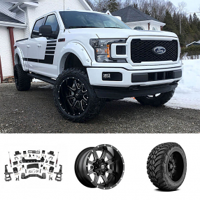 "2018 Ford F-150 22x12"" Wheels+Tires+Suspension Package Deal"