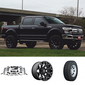 "2018 Ford F-150 22x10"" Wheels+Tires+Suspension Package Deal"