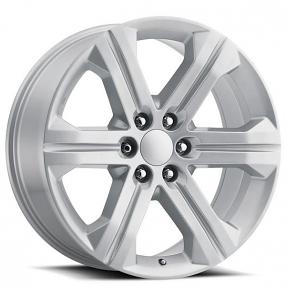 "22"" 2018 GMC Sierra Wheels FR 47 Silver OEM Replica Rims"