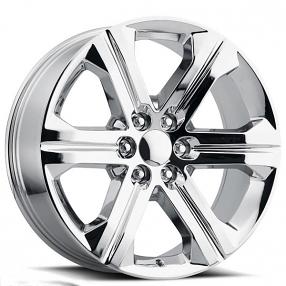 "22"" 2018 GMC Sierra Wheels FR 47 Chrome OEM Replica Rims"