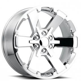 "22"" Wheels 2018 Duel 6 Star FR 45 Chrome OEM Replica Rims"