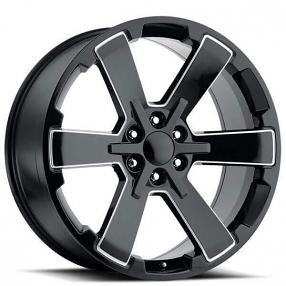"22"" Wheels 2018 Duel 6 Star FR 45 Black Ball Milled OEM Replica Rims"
