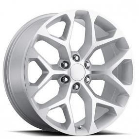 """20"""" 2014 Chevy Snowflake Wheels Silver Machined FR 59 OEM Replica Rims"""