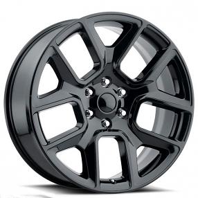 "22"" 2019 Ram 1500 Wheels FR 76 Gloss Black OEM Replica Rims"