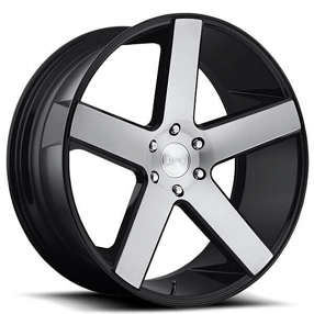 28 Dub Wheels Baller S217 Gloss Black With Brushed Face Rims