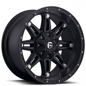 "18"" Fuel Wheels D531 Hostage Matte Black Off-Road Rims"