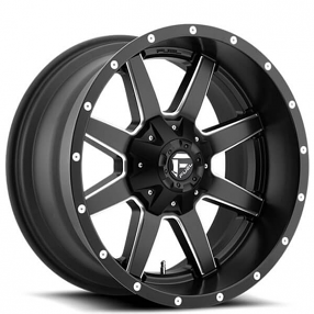 "20"" Fuel Wheels D538 Maverick Black Milled Off-Road Rims"