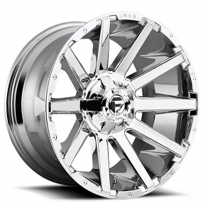 "22"" Fuel Wheels D614 Contra Chrome Off-Road Rims"