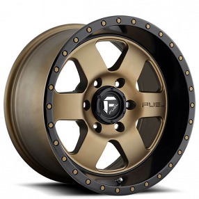 "18"" Fuel Wheels D617 Podium Matte Bronze with Black Lip Off-Road Rims"