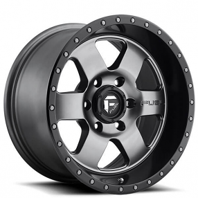 "20"" Fuel Wheels D619 Podium Matte Gunmetal with Black Lip Off-Road Rims"