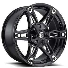 "20"" Fuel Wheels D622 Dakar Gloss Black Milled Off-Road Rims"