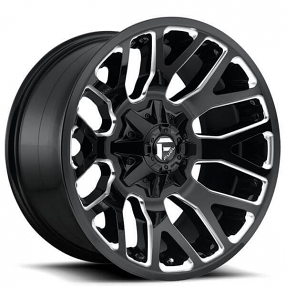 "20"" Fuel Wheels D623 Warrior Gloss Black Milled Off-Road Rims"