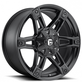 "20"" Fuel Wheels D624 Dakar Matte Black Off-Road Rims"