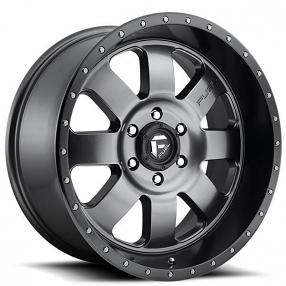 "20"" Fuel Wheels D628 Baja Matte Gunmetal Off-Road Rims"