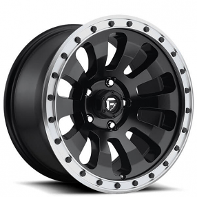 "20"" Fuel Wheels D629 Tactic Matte Black with Machined Lip Off-Road Rims"