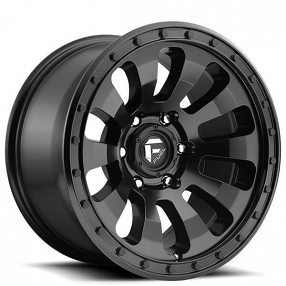 "20"" Fuel Wheels D630 Tactic Matte Black Off-Road Rims"