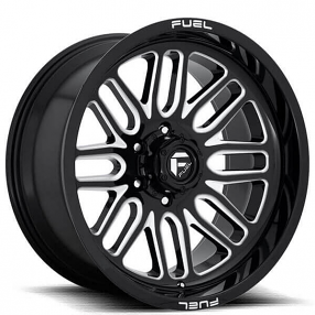 "20"" Fuel Wheels D662 Ignite Gloss Black Milled Off-Road Rims"